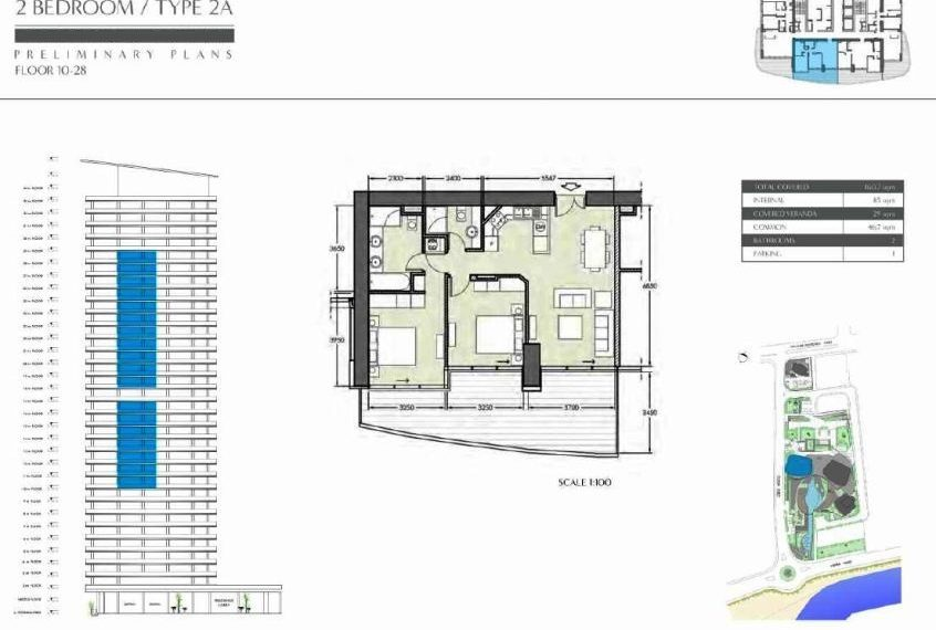2 bed Type 2A