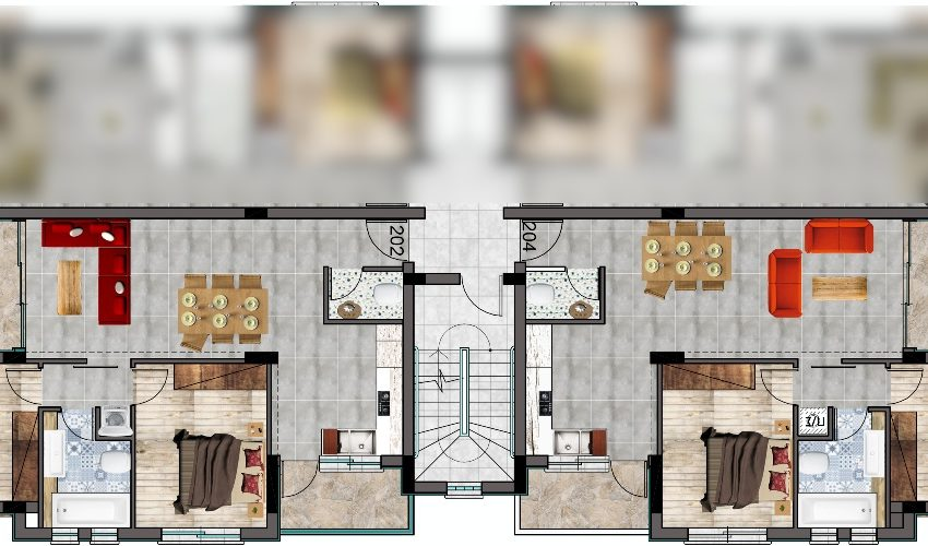 2 bed fl plan