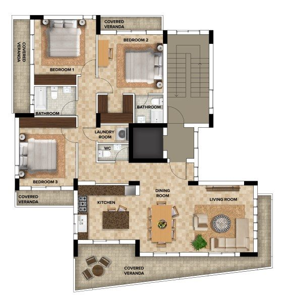 Limassol Property Modern Three Bedroom Apartments in Agios Athanasios, Cyprus, AE12849 image 1