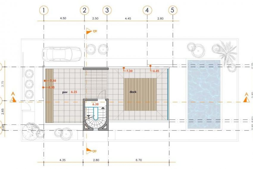 A1 2 3 Roof Plan