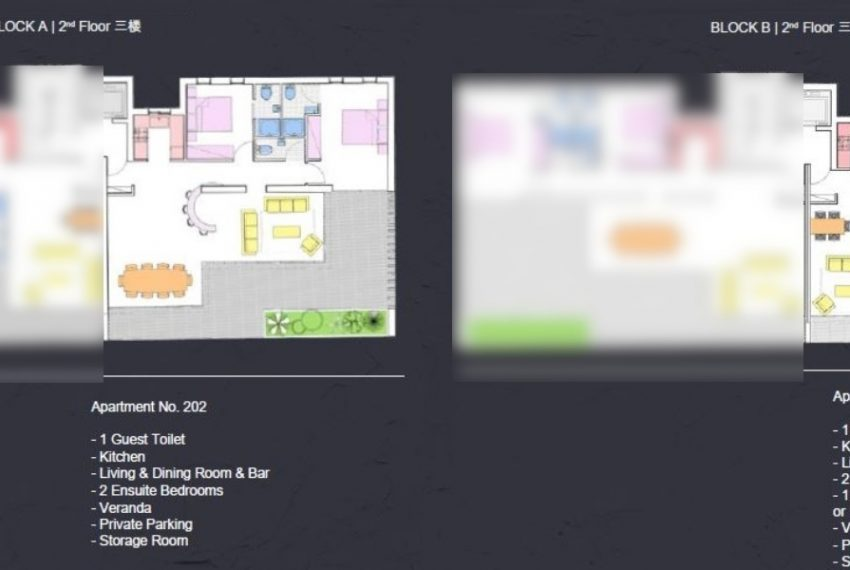 Floor plan 2-2bds