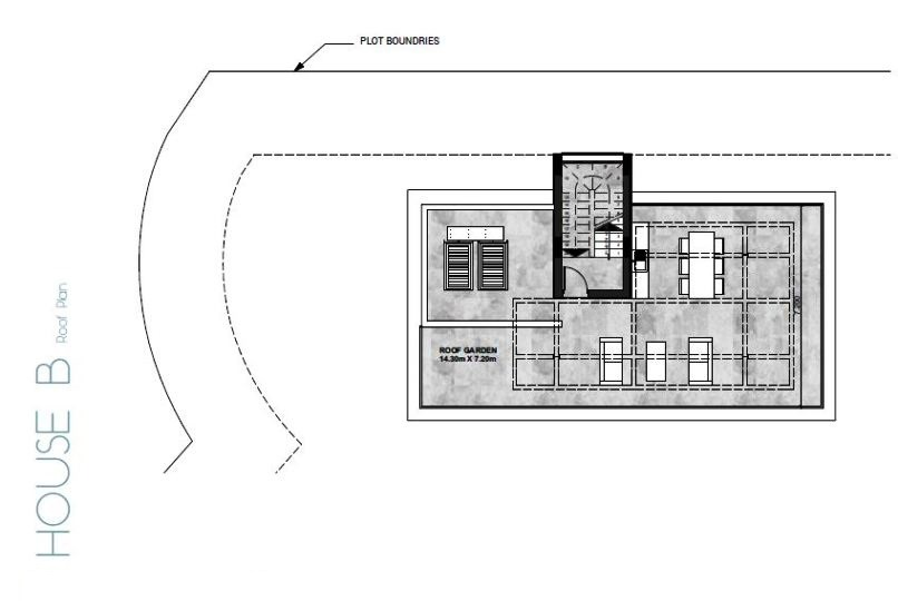Roof Plan House - B