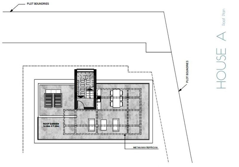 Roof Plan house- A