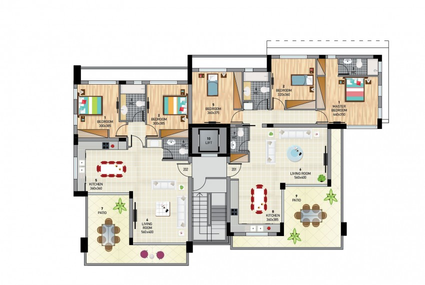 TYPICAL FLOOR PLAN BLOCK B copy-01-01