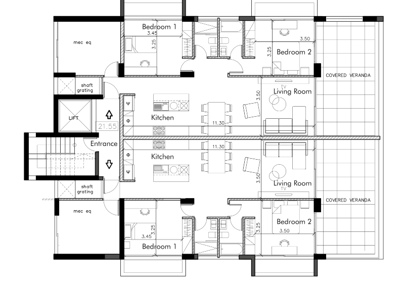 Two bedroom Apt - Residence 23