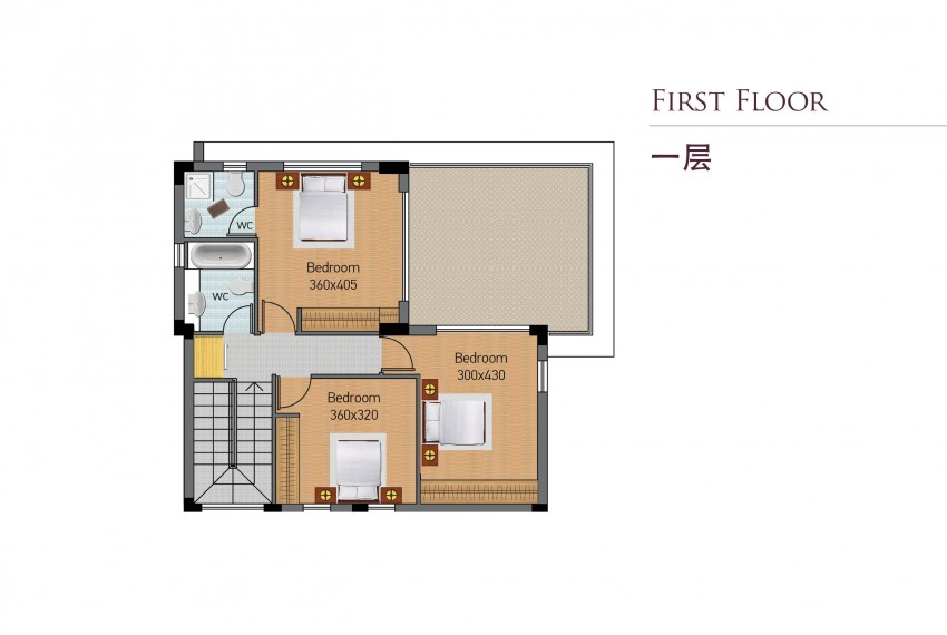 Type B-first floor