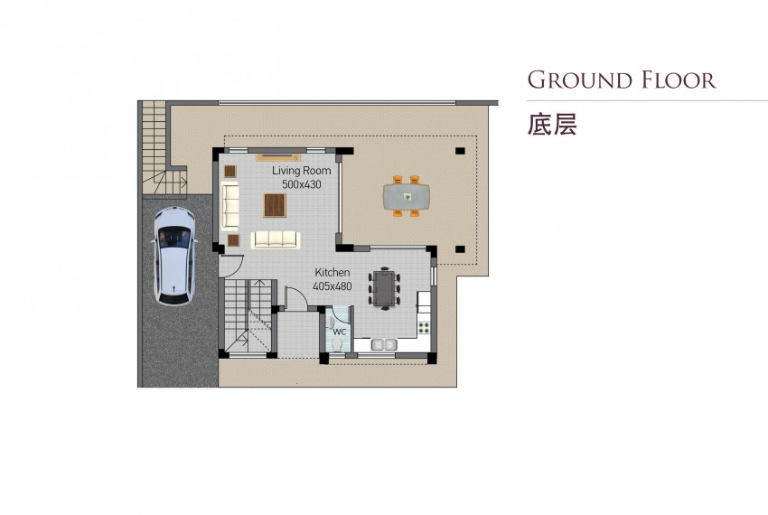 Type B-ground floor