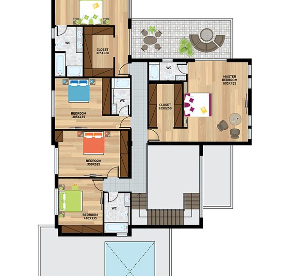 Villa1plan first floor