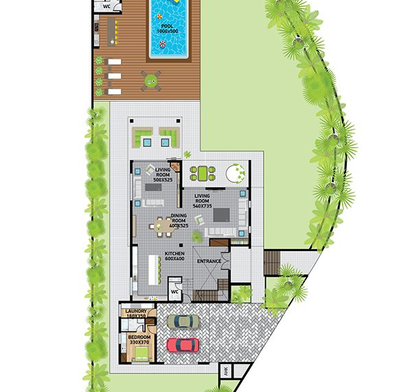 Villa1plan ground