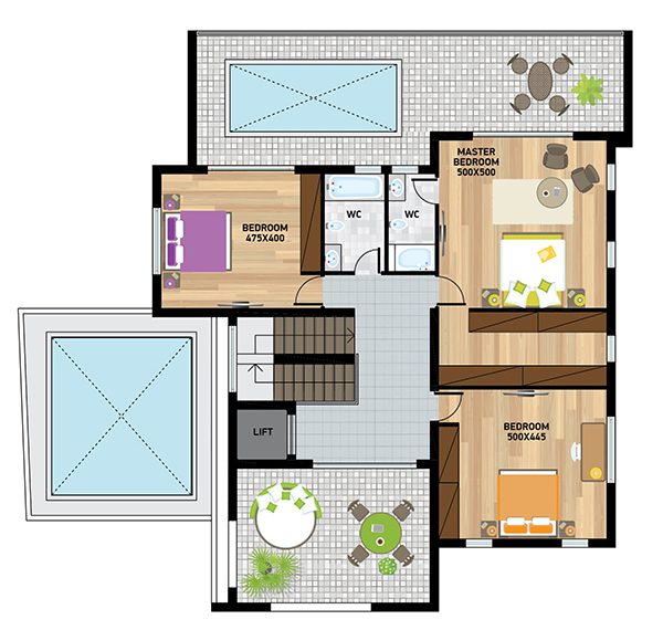 Villa3plan first fl