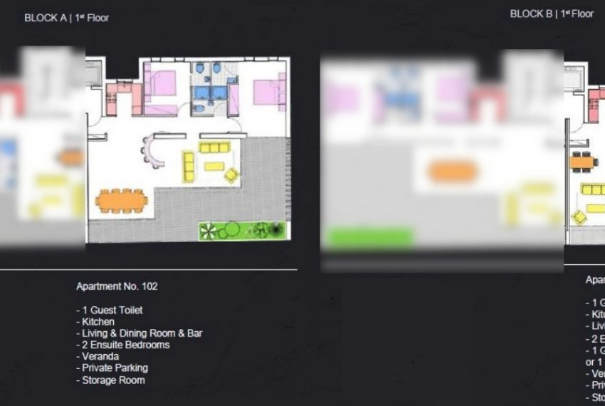 floor plan 1 -2bds